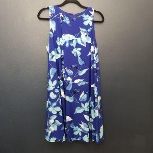 LAUREN Ralph Lauren Leaf Print Dress 16